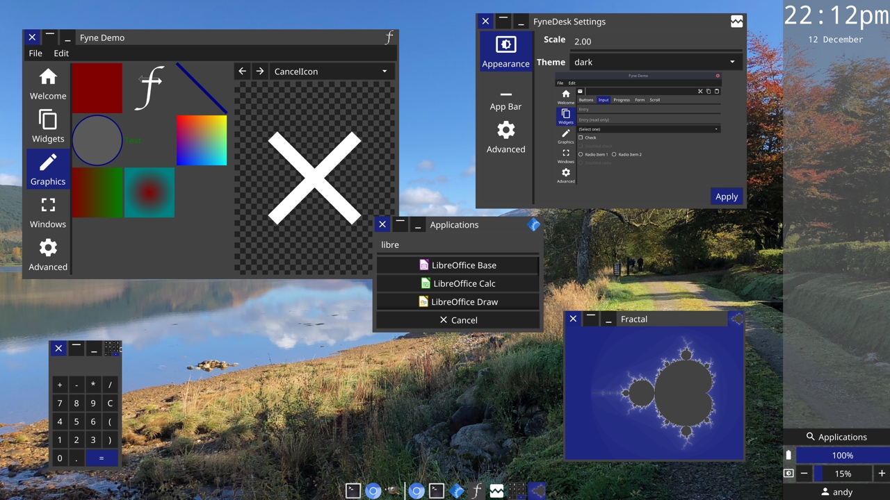 Fyne's Dark Desktop Widgets